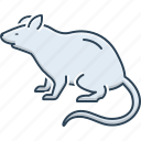 beast, domestic, harmful, jerboa, mouse, rat, rodent icon