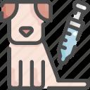 animal, dog, health, injection, medicine, pet, shop icon