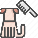 animal, beauty, comb, dog, grooming, pet, shop icon