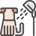 animal, bath, grooming, pet, salon, shop, shower icon
