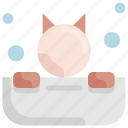 bath, bathtub, cat, grooming, pet, salon, shop icon