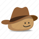 cowboy, hat, pet rock, rock, stetson icon