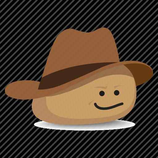cowboy, hat, pet rock, rock, stetson icon