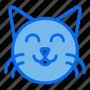 cat, pet, animal, emoticon, face