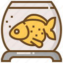 animal, care, fish, golden, pet, shop, store icon