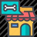 bone, food, pet, pet shop, shop icon