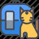 animal, cat, house, pet, transportation icon