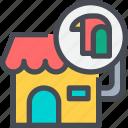 animal, bird, house, pet, pet shop, shop icon