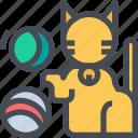 animal, ball, cat, pet, toy icon