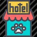 animal, hotel, pet, service icon