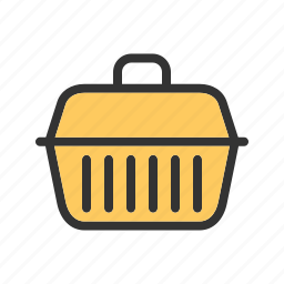 animal, box, cage, container, house, pet, transport icon