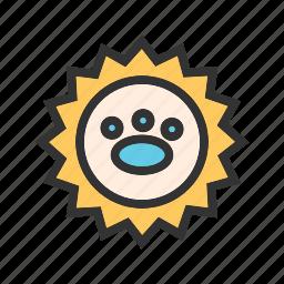animal, logo, monkey, pet, shop, stamp icon