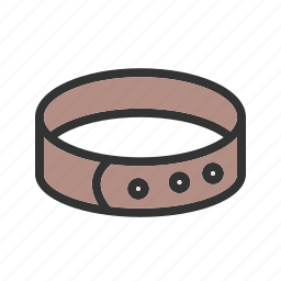 bulldog, collar, dog, lead, leash, puppy, training icon