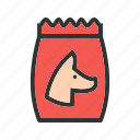 biscuit, bone, bowl, dog, food, pet, puppy icon
