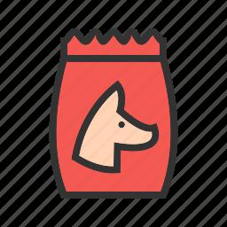biscuit, bone, bowl, dog, food, pet, puppy icon