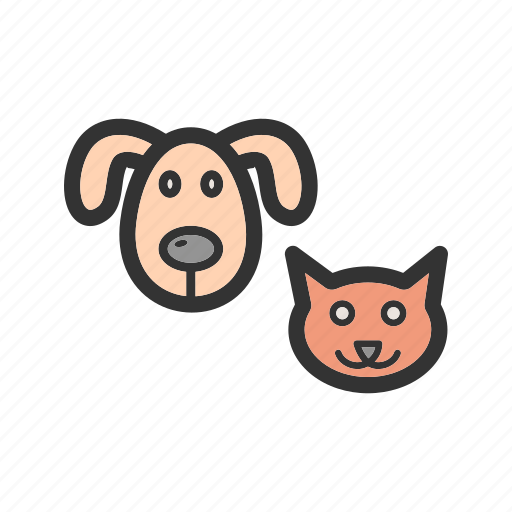 animal, cat, dog, dogs, kitten, pet, puppy icon
