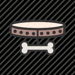 animal, bone, bowl, collar, dog, leash, tag icon