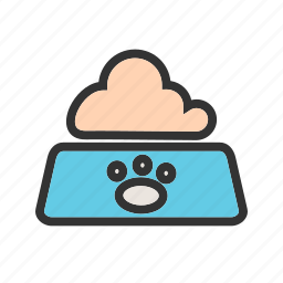 animal, bowl, cat, eating, food, milk, pet icon