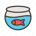 aquarium, bowl, fish, fishbowl, pet, tank, water icon