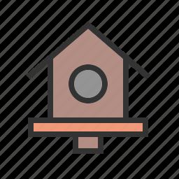 bird, birdhouse, birds, house, spring, tree, wood icon