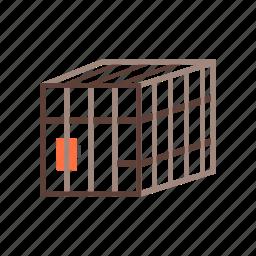 animal, bars, bird, birdcage, cage, cell icon