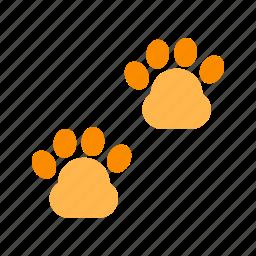 animal, cat, cute, dog, paw, pet, walk icon