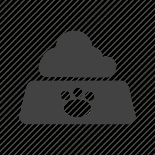 animal, bowl, cat, eating, food, milk, pet icon