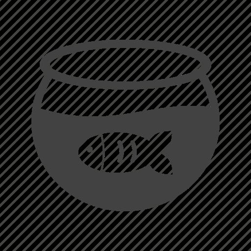 aquarium, bowl, fish, fishbowl, pet, tank, water icon