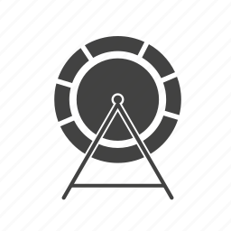 cage, circle, mouse, rat, running, wheel icon