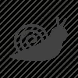 animal, cute, garden, shell, slow, small, snail icon