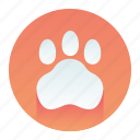 animal, cat, paw, pet, print