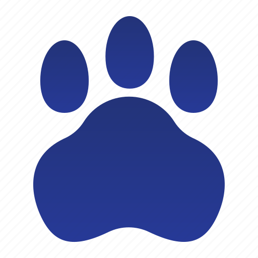 animal, cat, paw, pet, print icon