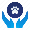 animal, care, gesture, hand, healthcare, pet icon