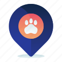 destination, location, navigation, pet, vet