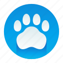 animal, paw, pet, print