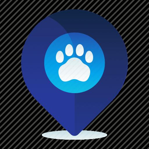 Destination, location, navigation, pet, vet icon - Download on Iconfinder