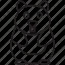 animal, cuddle, guinea, pet, pig, soft, warm icon