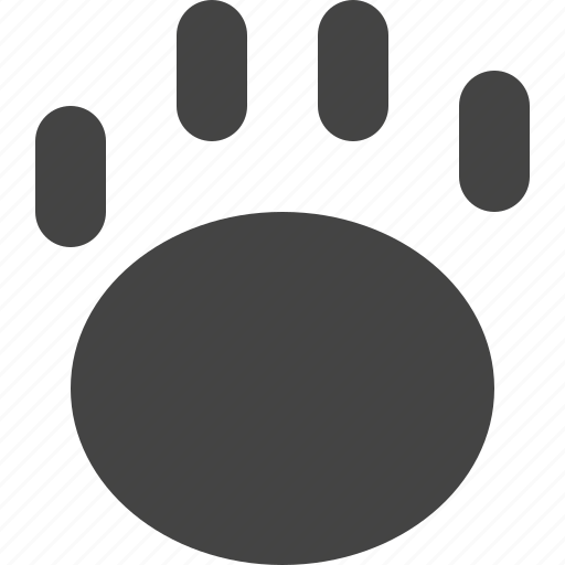 animal, clawn, creature, footprint, pet icon