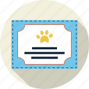 award, badge, best, diploma, paw, pedigree, pet icon
