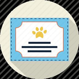 award, badge, best, diploma, paw, pedigree, pet icon