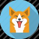animal, face, fox, happy, sly, zoo icon