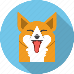 animal, face, fox, happy, sly, zoo icon