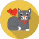 animal, cat, domestic, heart, kitty, love, pet icon