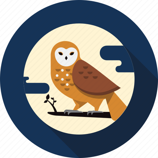 animal, bird, feather, night, owl, wildlife icon