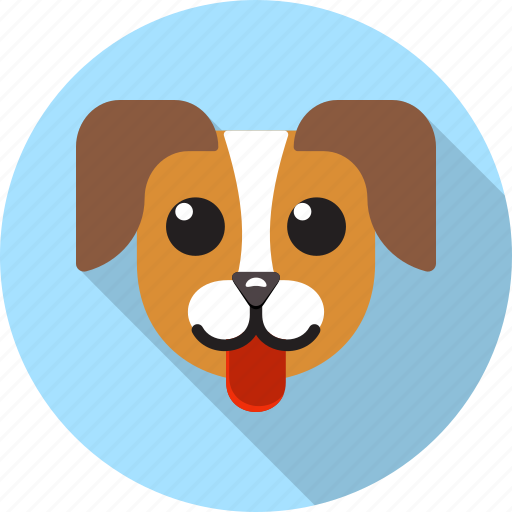 animal, dog, domestic, face, pets, puppy icon