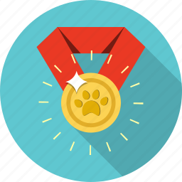 award, medal, paw, trophy, winner icon