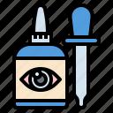 bottle, dropper, eye, healthcare, liquid, medical