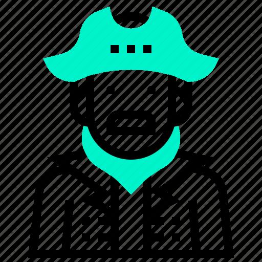 avatar, buccaneer, captain, male, man, pirate icon