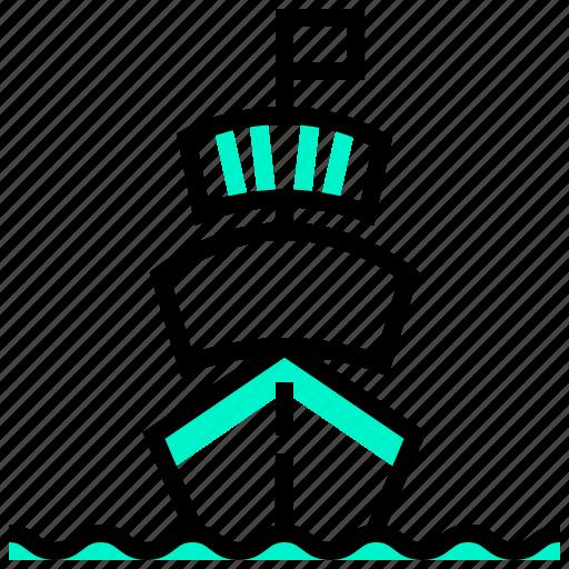 cruise, navy, pirate, ship, transport, transportation icon