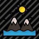 seaview, island, seashore, islet, mountains, philippines